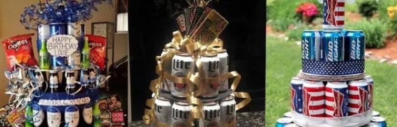 Торт из пивных банок или бутылок мужчине на любой праздник
