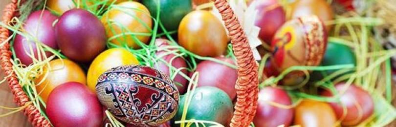 Способы окрашивания яиц на Пасху своими руками