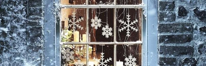Самодельные снежинки на окна для создания новогодней атмосферы