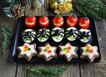 Новогодние горячие и холодные закуски, новинки рецептов